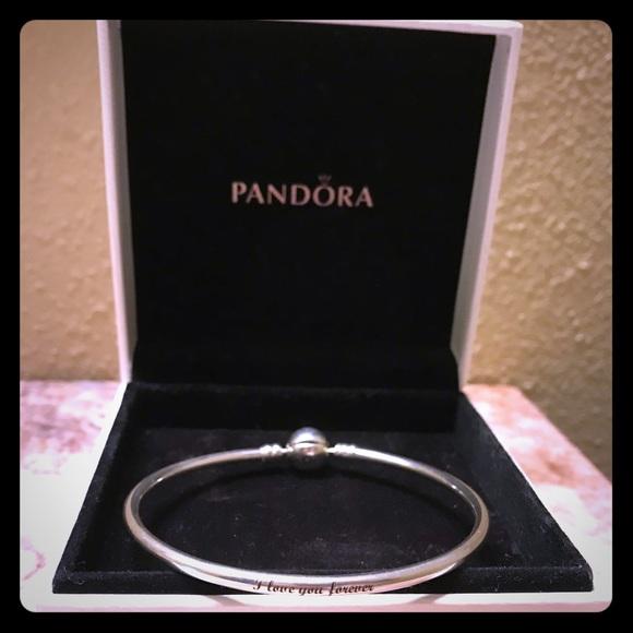 Pandora Jewelry I Love You Forever Bangle Bracelet